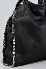 Stella Mccartney Classic Falabella Tote Bag Black in Black - Lyst