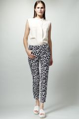 Stella McCartney Skinny Animalprint Jeans - Lyst