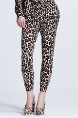 Stella McCartney Leopardprint Jogging Pants - Lyst
