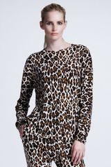 Stella McCartney Leopardprint Pullover - Lyst