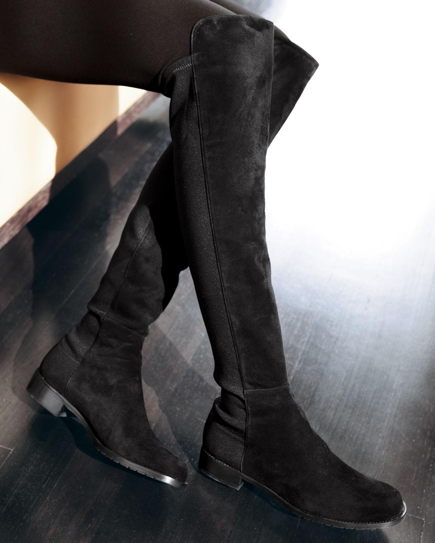 e69944d3a4f Lyst - Stuart Weitzman Womens Stretch Overtheknee Boot in Black