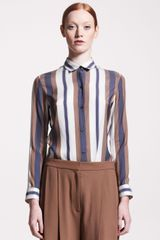 The Row Jacquardstripe Blouse - Lyst