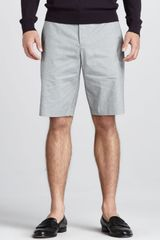 Theory Finestripe Shorts Storm Cloud - Lyst