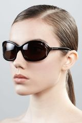 Tom Ford Vivienne Rounded Sunglasses Dark Havana - Lyst