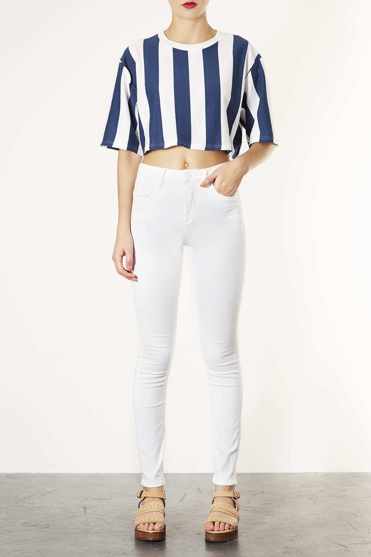 Topshop Moto White Jamie Jeans in White | Lyst