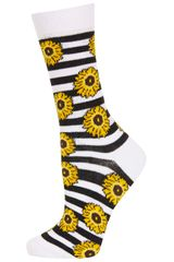 Topshop White Sunflower Ankle Socks - Lyst