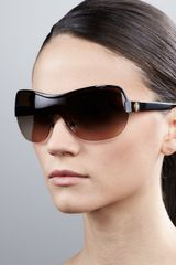 Tory Burch Shield Sunglasses Black - Lyst