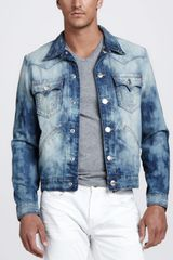 True Religion Antelope Bleached Tiedye Denim Jacket - Lyst