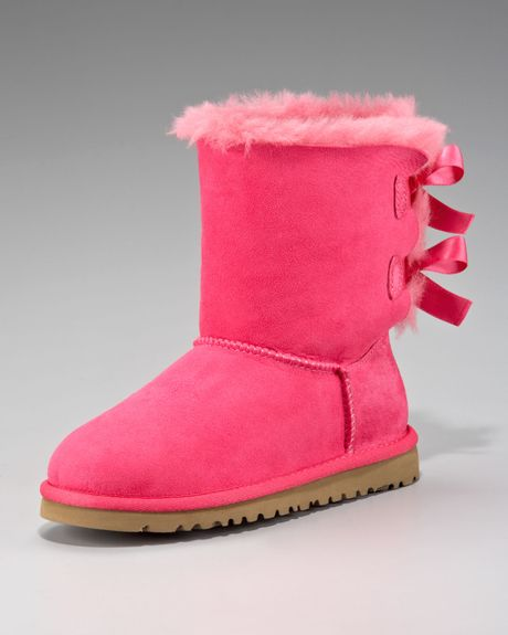 ugg pink bailey bowback boot youth in pink cerise pink lyst. Black Bedroom Furniture Sets. Home Design Ideas