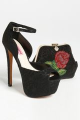 Betsey Johnson Bandit Sandal in Black (black fabric) - Lyst