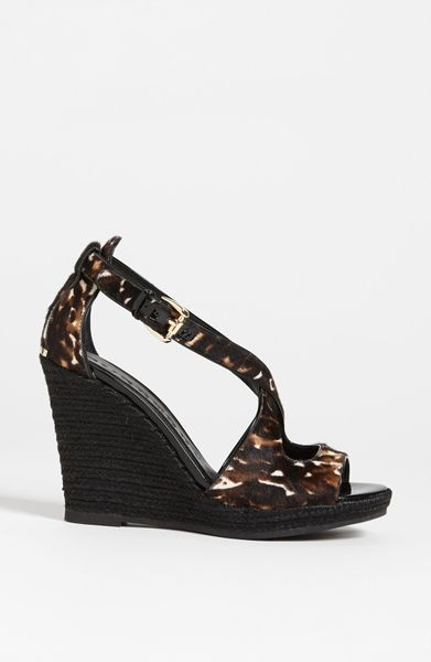 Burberry Abby Wedge Sandal In Black Leopard Lyst