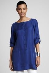 Eileen Fisher Silk Tunic dress - Lyst