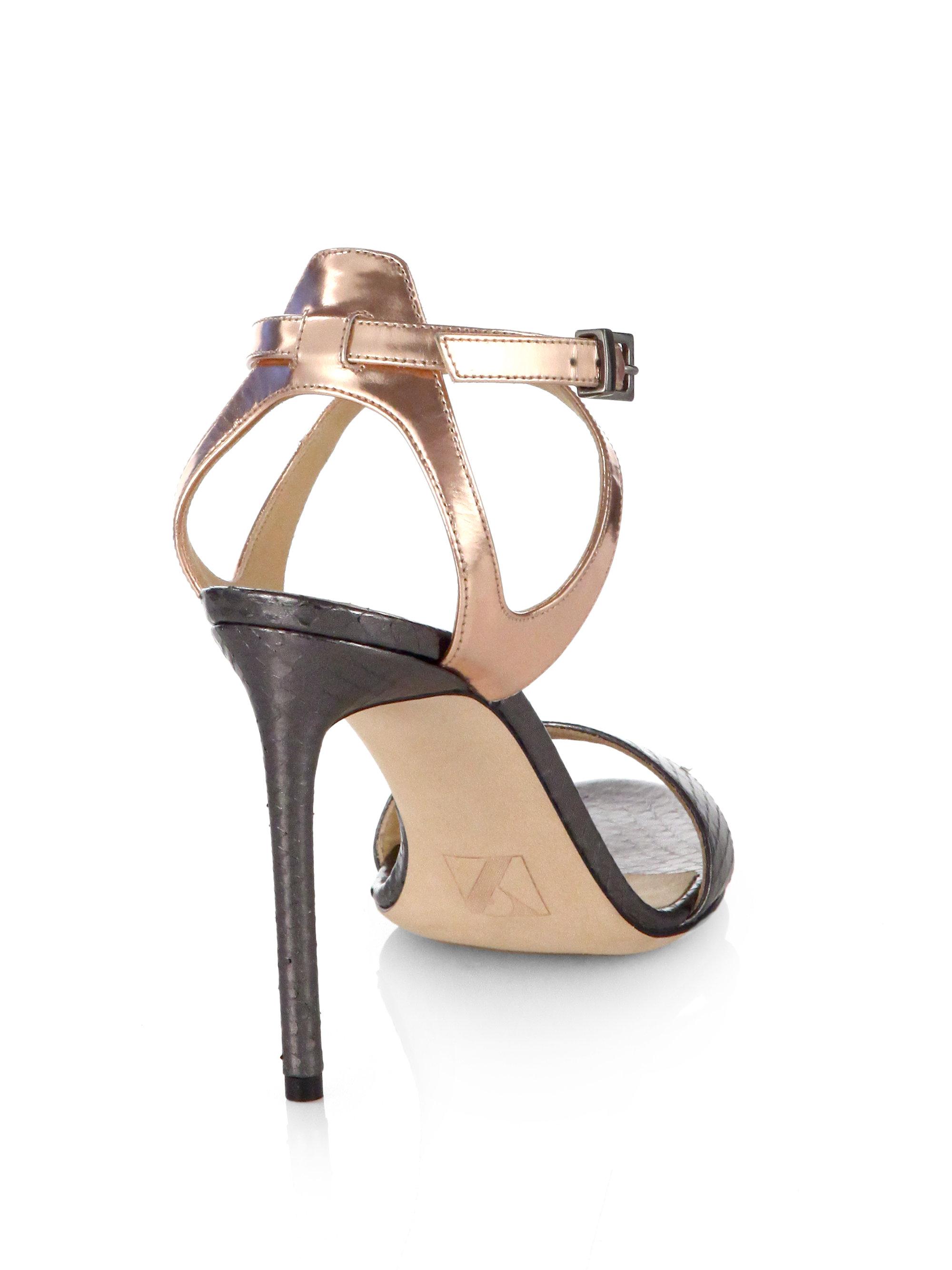 Reed Krakoff Snakeskin Crossover Sandals outlet best prices FDlCIWpG8o