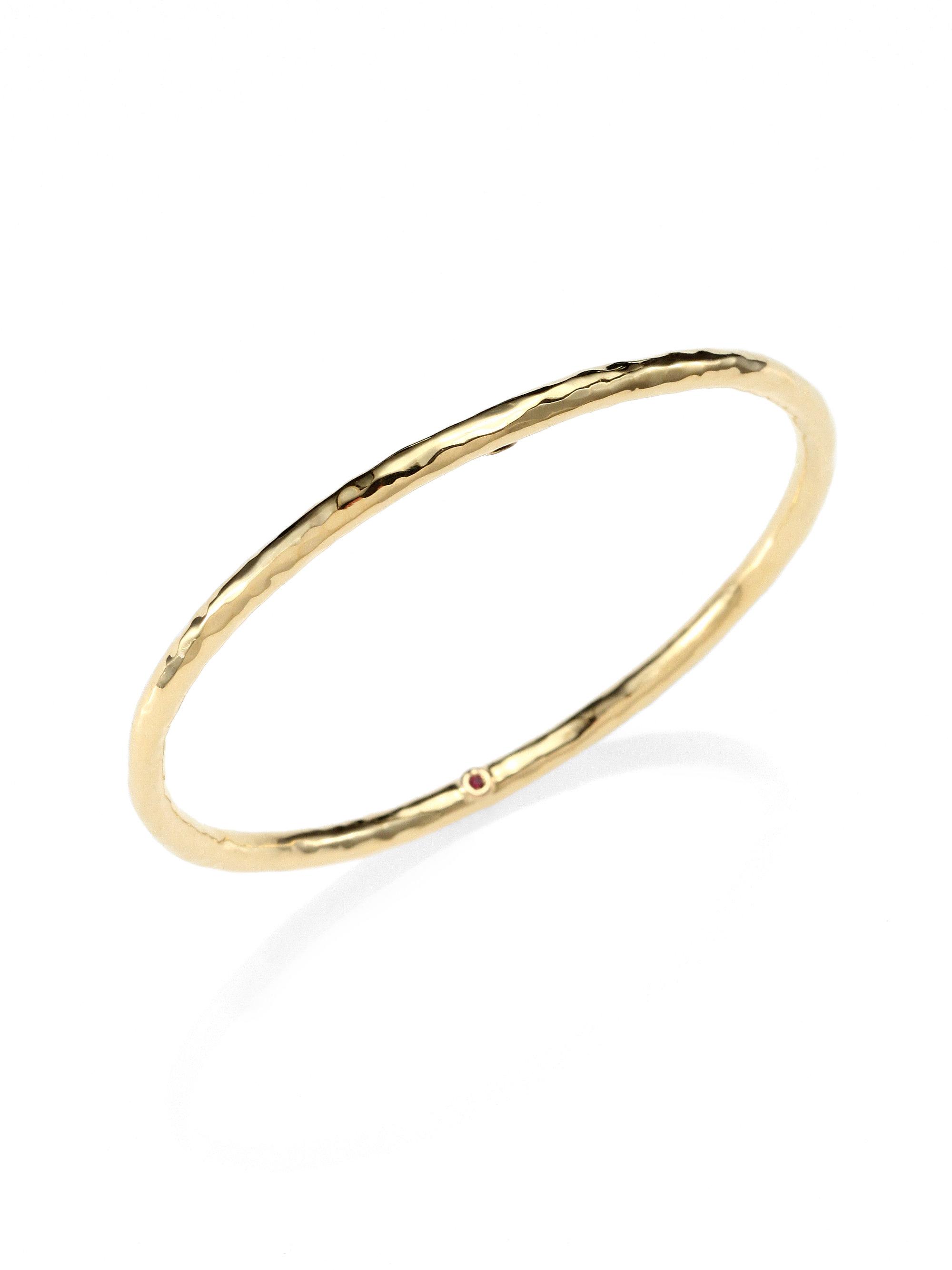 roberto coin martellato 18k yellow gold bangle bracelet in. Black Bedroom Furniture Sets. Home Design Ideas