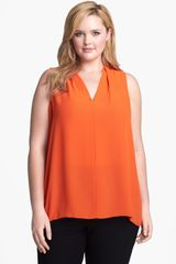 Vince Camuto Sleeveless High-low Blouse - Lyst