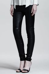 Belstaff Wilton Skinny Leather Moto Pants - Lyst