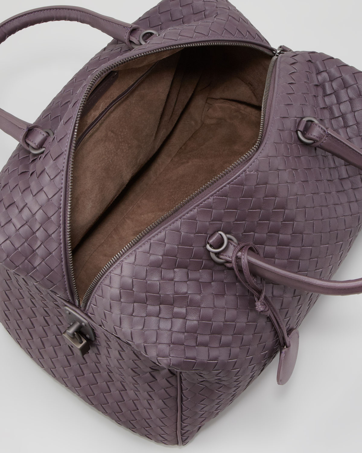 046a5211e449ab Bottega Veneta Large Boston Top Handle Bag in Purple - Lyst