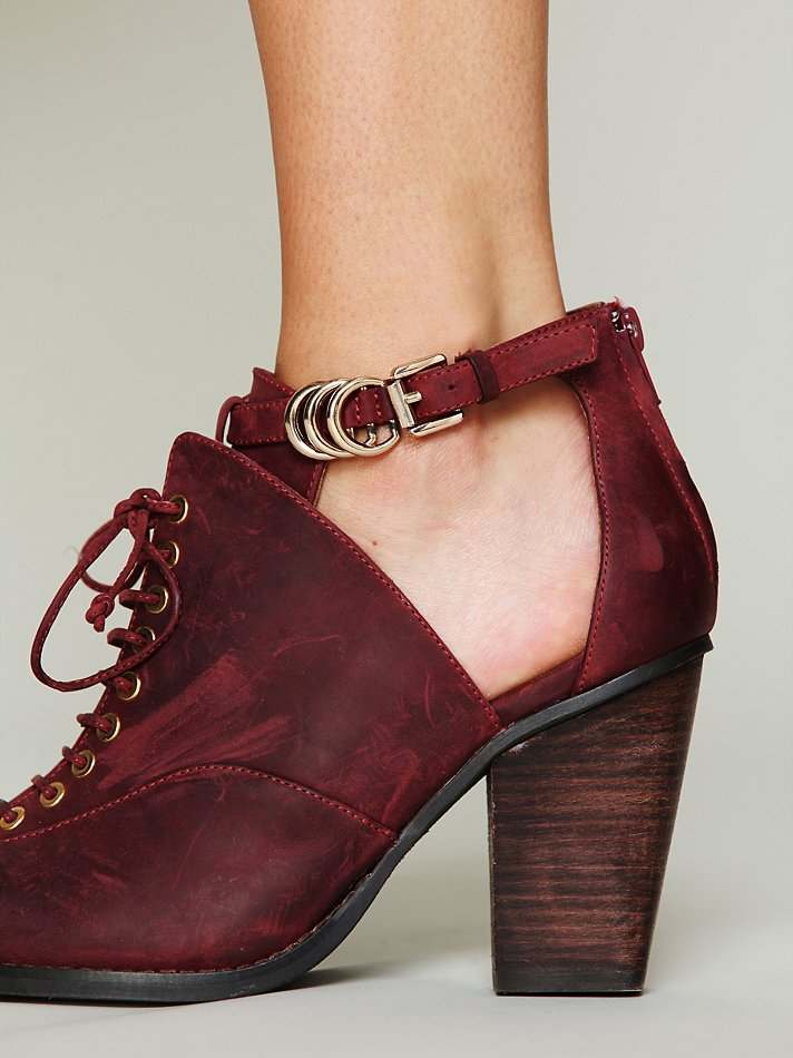 Jeffrey Campbell Disband Ankle Boot In Red Burgundy Lyst