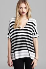 Red Haute Quotation Top Stripe - Lyst