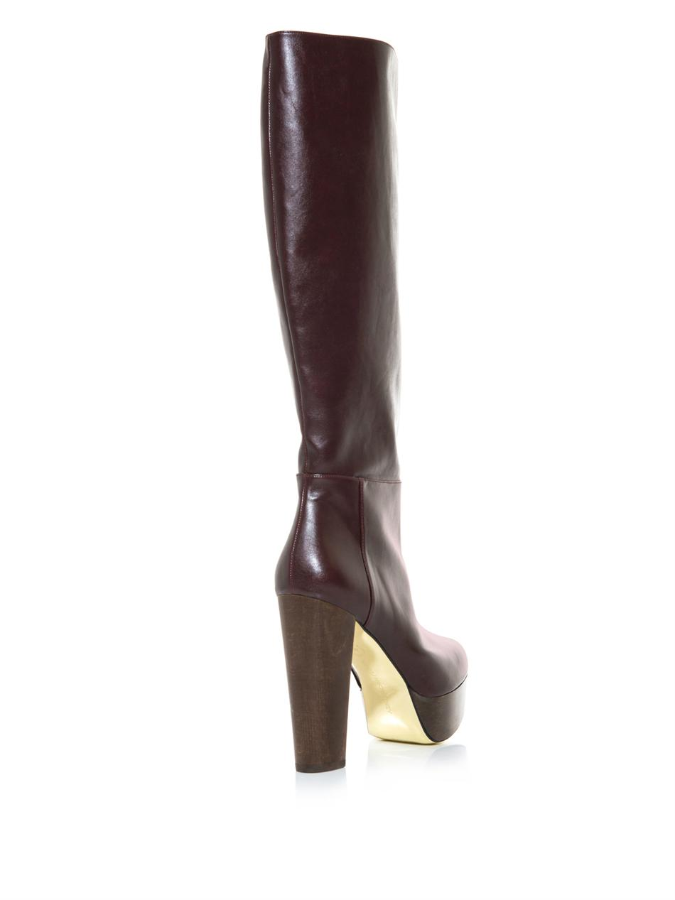 big sale for sale with credit card Stella McCartney Knee-High Platform Boots FrxGA6MAPn