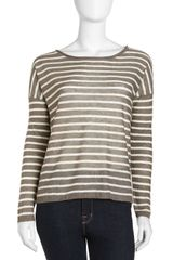 Vince Linen Striped Sweater - Lyst