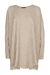 Eskandar Oversized Cable Jumper - Lyst