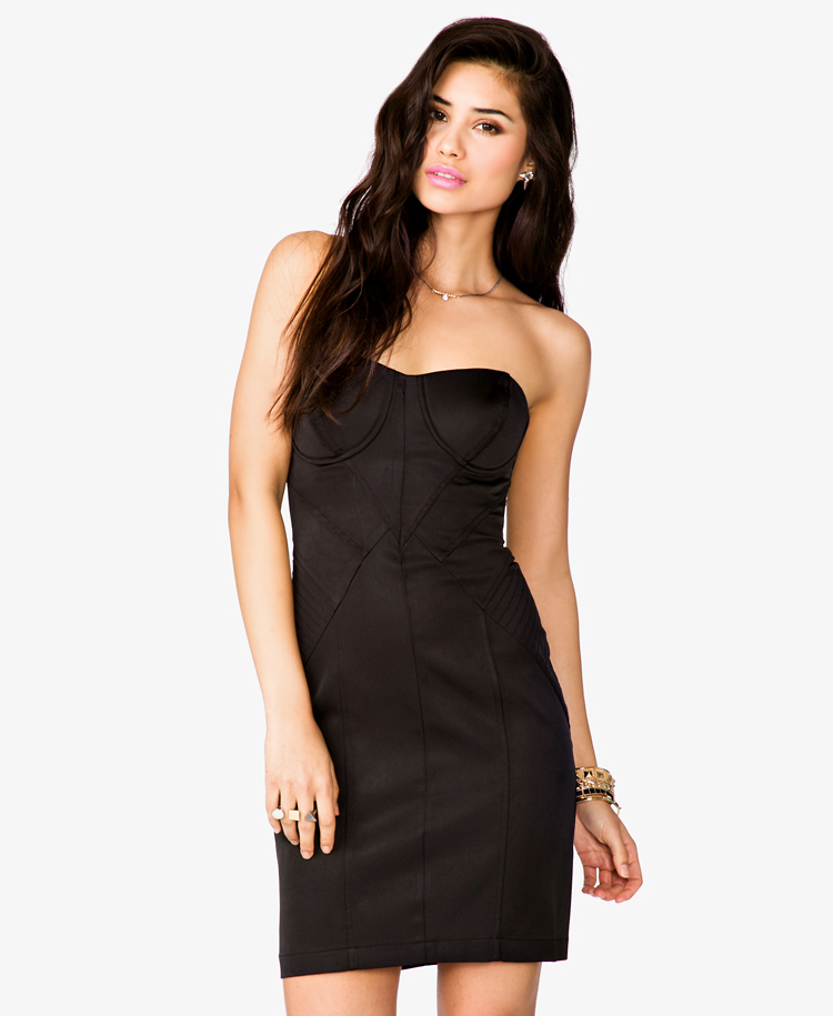 Black Strapless Dress Forever 21