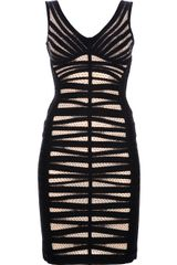 Hervé Léger Panel Fitted Bandeau Dress - Lyst