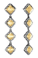 John Hardy Palu Squaredrop Earrings - Lyst
