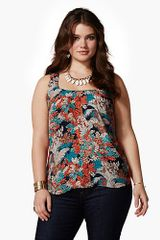 Lucky Brand Presley Jungle Royal Tank - Lyst