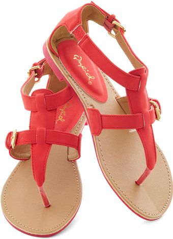 ModCloth Travel Blogger Sandal in Poppy - Lyst