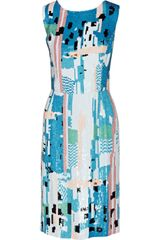 Oscar de la Renta Sequined Silk Dress - Lyst