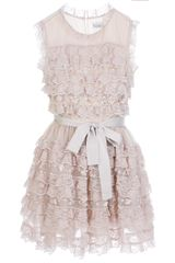 RED Valentino Ruffle Lace Dress - Lyst