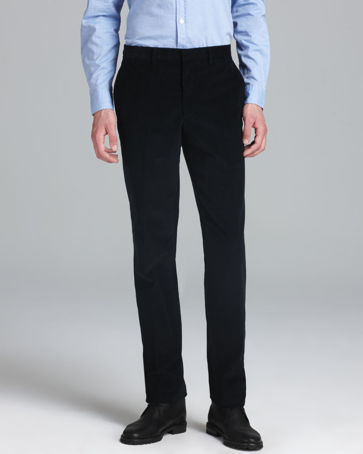 Burberry London Moorgate Corduroy Dress Pants in Black for Men | Lyst