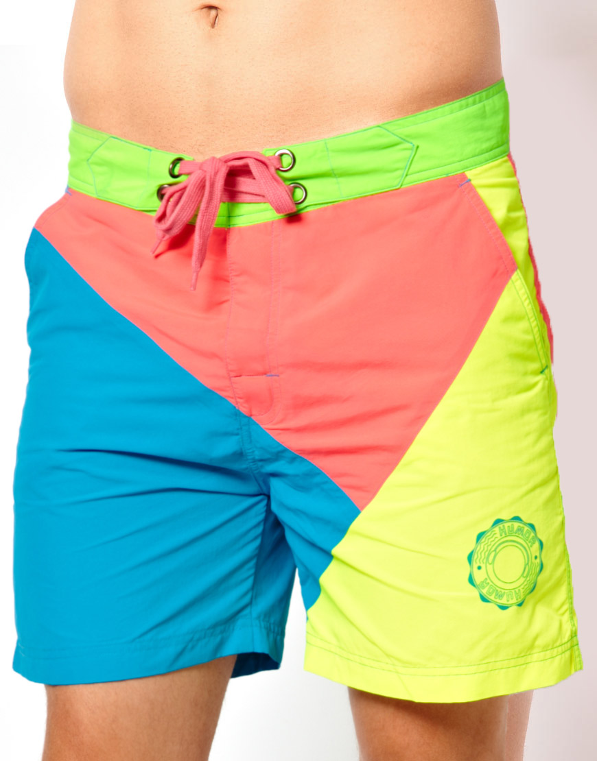 Neon Shorts omg omg omg im dying i need these so badd! - dope shorts if they weren't ripped at the bottoms and if they were a bit longer:) Find this Pin and more on Chaos Bucky Rogers by Mackenzie. Neon Shorts fun for summer.