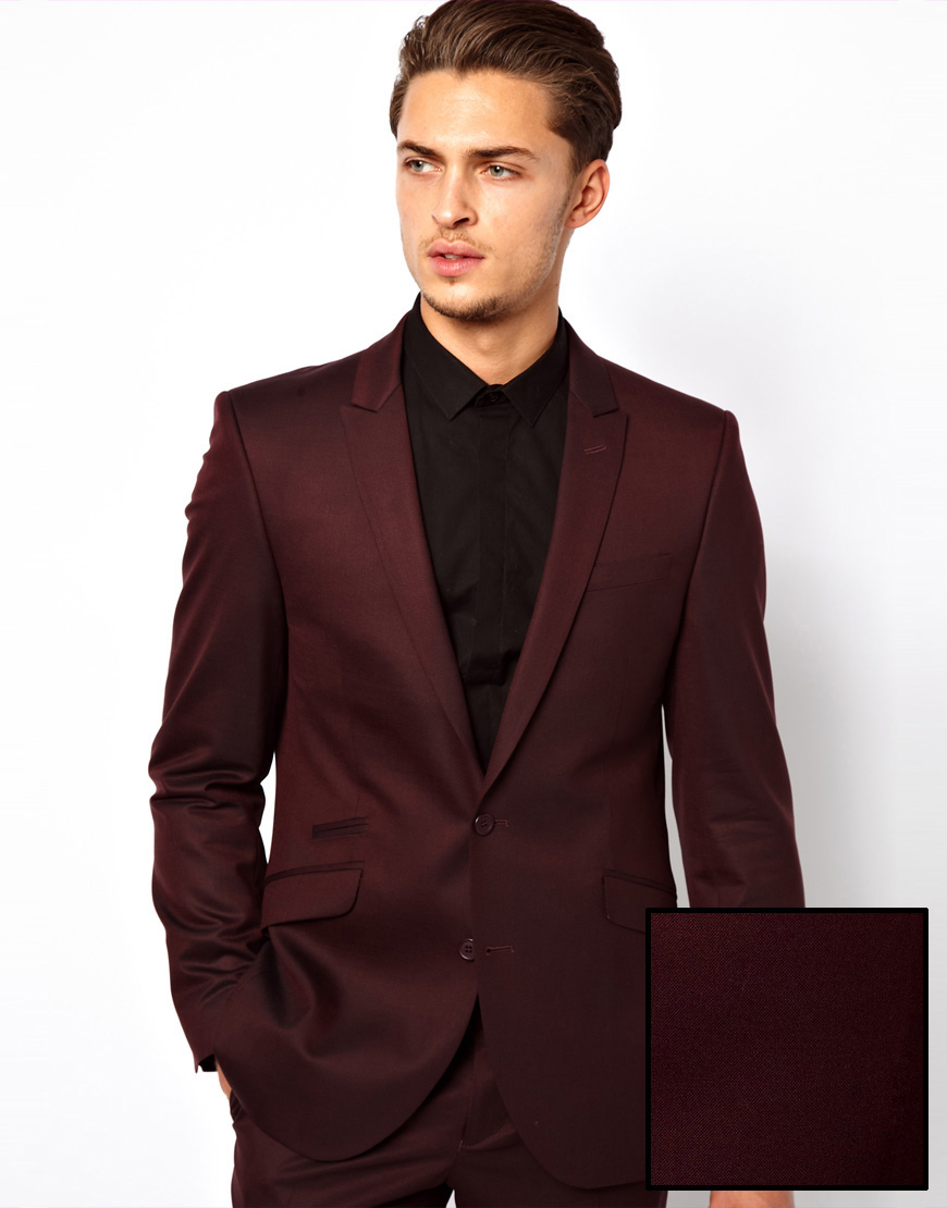 Lambretta Suit Jacket in Slim Fit in Red for Men | Lyst