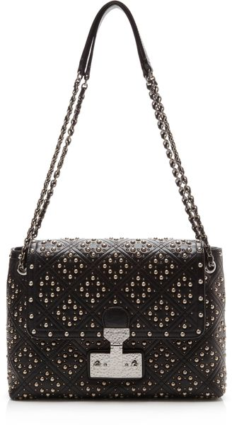 Marc Jacobs Mo Exclusive The Baroque Stud Large Single Handbag in Black - Lyst