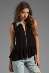 One Teaspoon Rebel Top in Black - Lyst