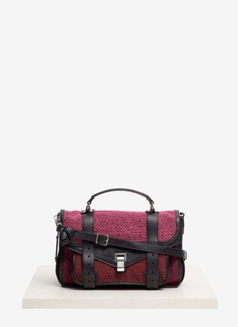 Proenza Schouler Ps1 Medium Tweedandleather Bag - Lyst
