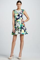 Rachel Roy Printed Aline Flouncy Dress - Lyst