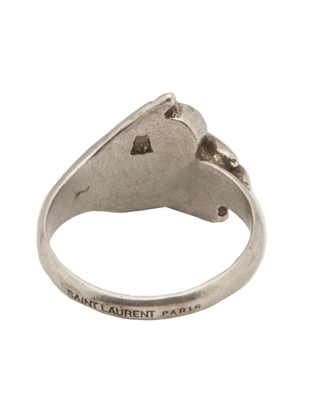 Lyst Saint Laurent Thin Hand Ring In Metallic For Men