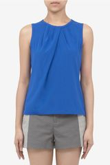 St. John Gathered-neckline Sleeveless Top - Lyst
