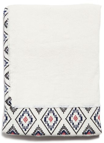 Zara Rustic Silk Embroidered Ethnic Scarf - Lyst