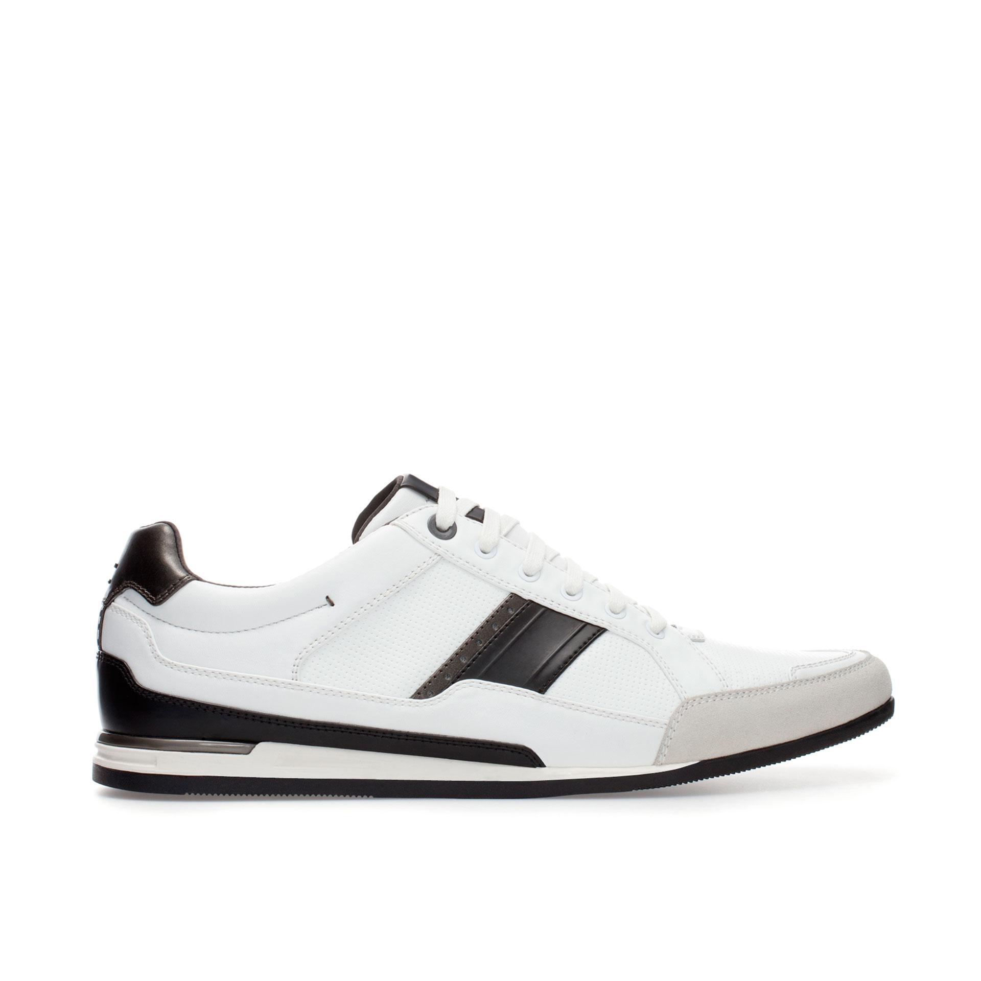zara dressy running shoes in white for lyst