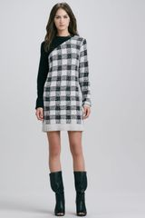 3.1 Phillip Lim Plaid Colorblock Knit Dress - Lyst