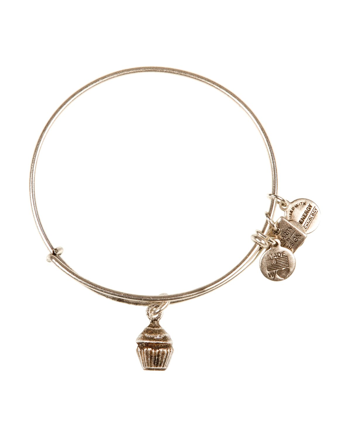 alex and ani cupcake expandable wire bangle charity by