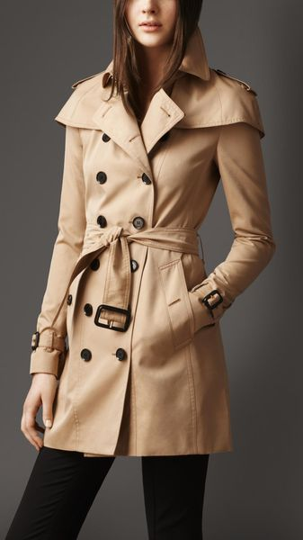 Burberry Caped Gabardine Trench Coat - Lyst