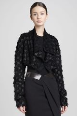Donna Karan New York Draped Lambskin Bolero Black - Lyst