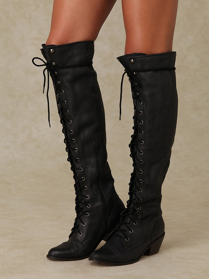Jeffrey Campbell Joe Lace Up Boot In Black Lyst