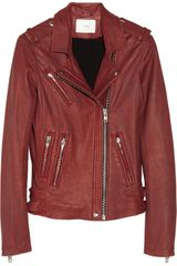 Iro Han Distressed Leather Biker Jacket - Lyst